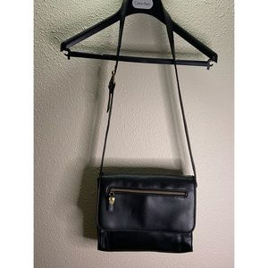 Relic by Fossil Black Leather Shoulder Bag